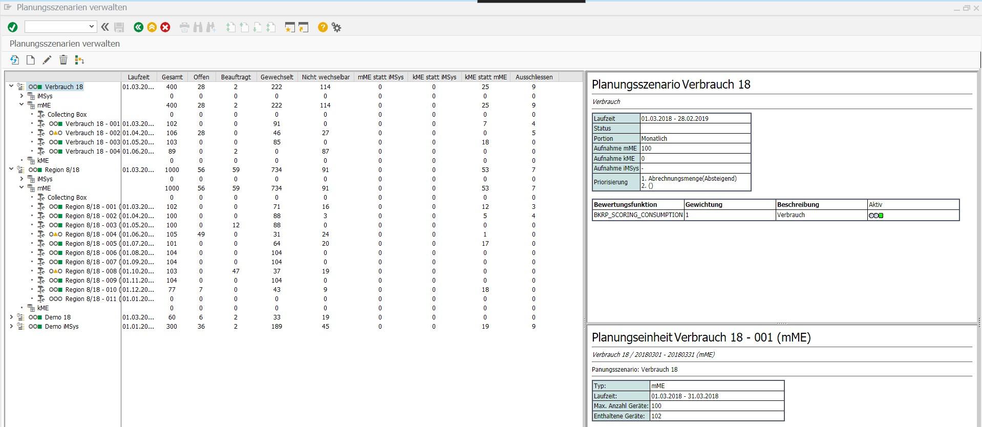 Screenshot Argos Arc Statistik