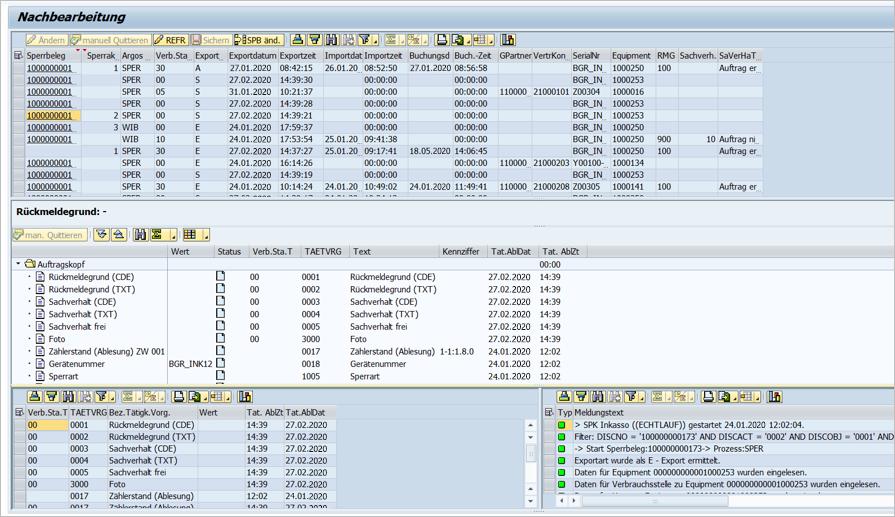 Screenshot Nachbearbeitungsmaske